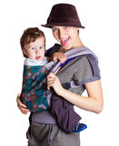 Young woman with child Royalty Free Stock Photo