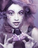 Young woman with chocolate Royalty Free Stock Images