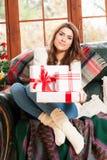 Young woman at christmas Stock Photography