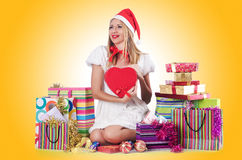 Young woman in christmas Royalty Free Stock Image