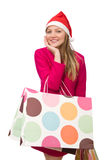 Young woman in christmas shopping concept. The young woman in christmas shopping concept Stock Images