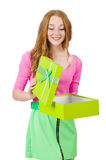 Young woman with christmas shopping Stock Images