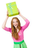 Young woman with christmas shopping Royalty Free Stock Image