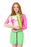 Young woman with christmas shopping Stock Photo