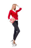 Young woman with christmas shopping Royalty Free Stock Photography
