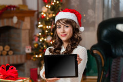 Young woman at christmas Stock Photography