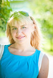 Young woman in a city. Royalty Free Stock Photos