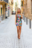 Young woman in the city of palma Royalty Free Stock Photography