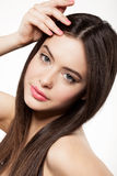 Beauty face of beautiful woman Stock Photos