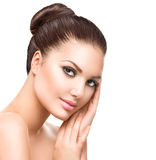 Young Woman with Clean Fresh Skin. Beautiful Young Woman with Clean Fresh Skin Stock Images