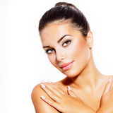 Young Woman with Clean Fresh Skin Royalty Free Stock Images