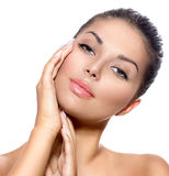 Young Woman with Clean Fresh Skin Stock Photos