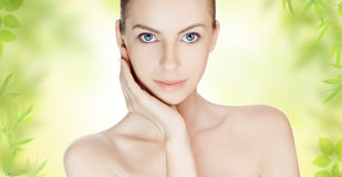 Young woman with clean skin Stock Photo