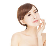 Young woman with  clean skin Royalty Free Stock Photos