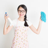 Young Woman Cleaning Royalty Free Stock Images