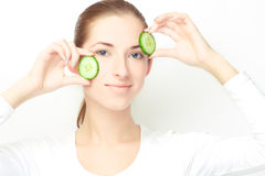 Young woman, clear skin concept theme Stock Photography