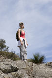 Young woman climbing Mt Maroon 1 Stock Photography