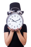 Young woman with clock Stock Photos