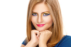 Young woman close up with amazing Royalty Free Stock Photography
