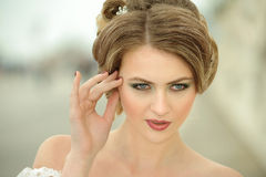 Young woman close-up portrait. Royalty Free Stock Images