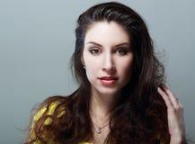Young woman closeup Stock Photos
