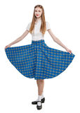Young woman in clothing for Scottish dance Royalty Free Stock Image