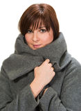 Young woman in coat Stock Images