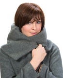 Young woman in coat Royalty Free Stock Photography