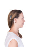 Young woman with cochlear implant Royalty Free Stock Photography
