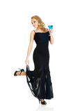 Young woman with cocktail Stock Photography