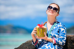 Young woman with coconut Stock Photos