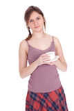 Young woman with coffee Stock Image