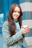 Young woman with coffee Royalty Free Stock Photo