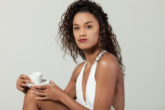 Young woman with a coffee Royalty Free Stock Photo
