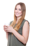 Young woman with coffee to go Royalty Free Stock Photos