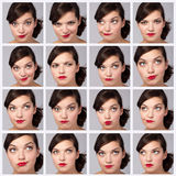 Young Woman Collection of Expressions Royalty Free Stock Images