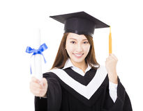 Free Young Woman College Graduate Portrait Royalty Free Stock Images - 66321329