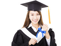 young woman college graduate portrait Royalty Free Stock Photography