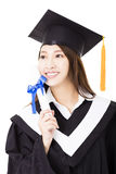 Young woman college graduate portrait Royalty Free Stock Image