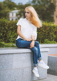 Young woman. Color toned image. Royalty Free Stock Photos