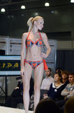 Young woman in a colorful bikini Lingrie Expo Moscow Royalty Free Stock Image