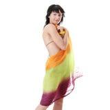 Young woman in colorfull bikini Stock Photos