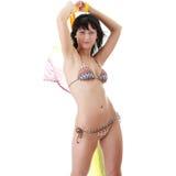 Young woman in colorfull bikini Stock Photo