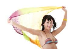 Young woman in colorfull bikini Stock Photography