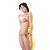 Young woman in colorfull bikini Royalty Free Stock Images