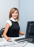 Young woman at computer Stock Photography