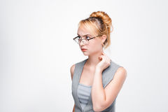 Young woman concentrated on personal problems Royalty Free Stock Photos