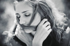 Young woman concept portrait Royalty Free Stock Photo