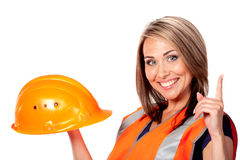 Young woman construction Royalty Free Stock Photo
