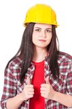 Young woman-contractor Royalty Free Stock Image